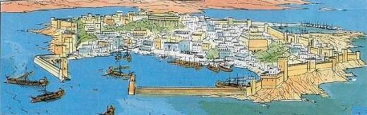 Dessin de la ville de Tyr