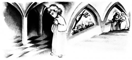 Joachim et Anne offrant Marie au Temple