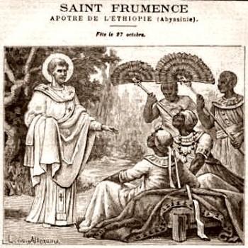 Saint Frumence à la cour du roi d'Abyssinie