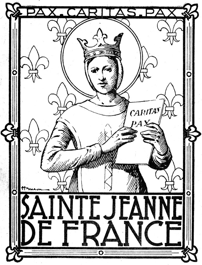 coloriage Sainte Jeanne de France