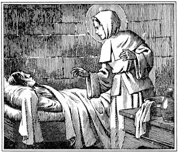 Vie de saint pour le catéchisme. Ste Jeanne soigne un malade