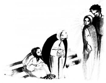 Bible pour la jeunesse gratuite : Marie et Joseph cherchant Jésus