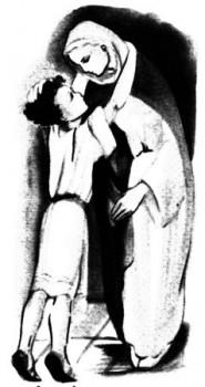 Jésus embrasse Marie - L'Evangile à lire aux enfants