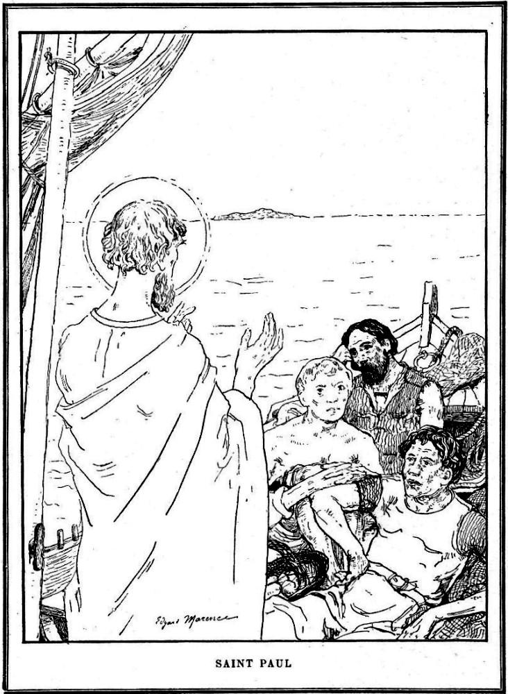Gravure de Saint Paul pour les scouts et les guides