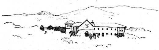 Le point de départ des missions franciscaines. Assise: Couvent de Notre-Dame-des-Roses.