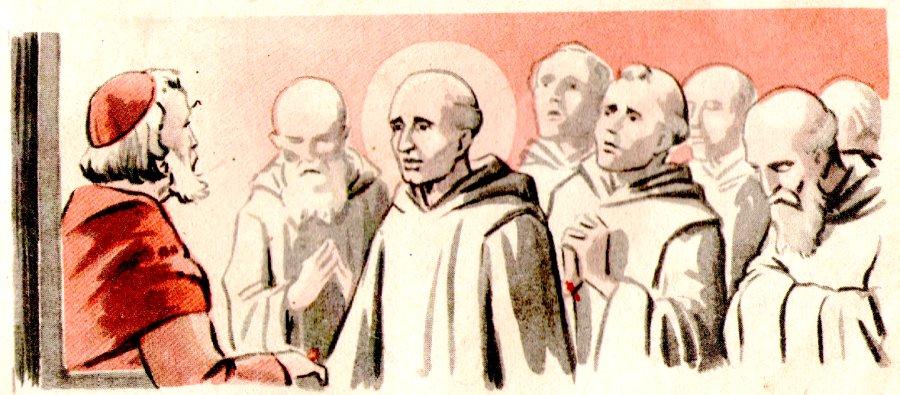 Saint Hugues reçoit saint Bruno et ses compagnons