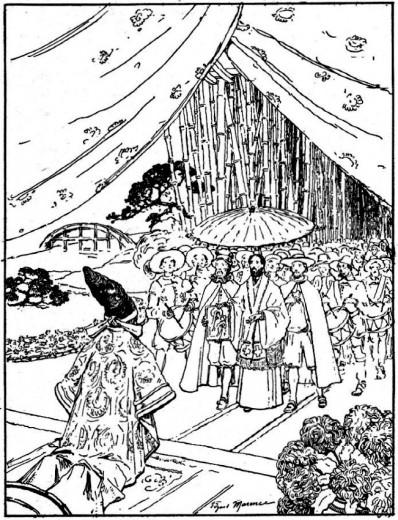 Récit pour le catéchisme : histoire des missions - Saint François Xavier reçu par un daymio.
