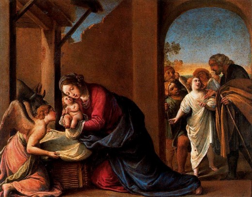 Marie et Joseph à Bethléem ; il n'y a plus de place
