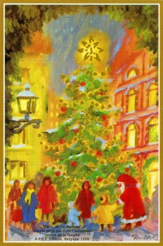 Fête de Noel, animation des rues