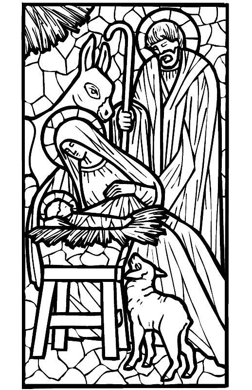 Coloriage pour le catéchisme Noel