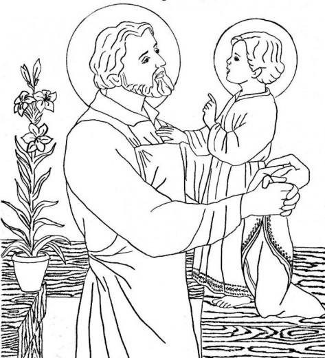 Coloriage de Saint Joseph patron du Canada