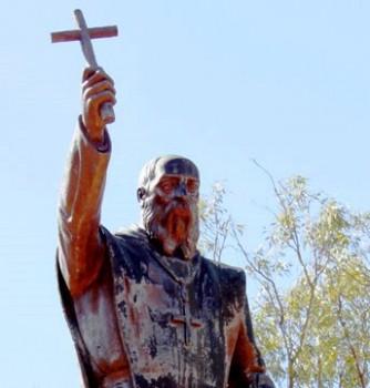Dom Rosendo Salvado apportant l'Evangiles aux arborigènes d'Australie