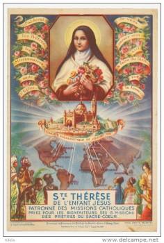 Image pieuse : sainte Thérèse bénissant les missions