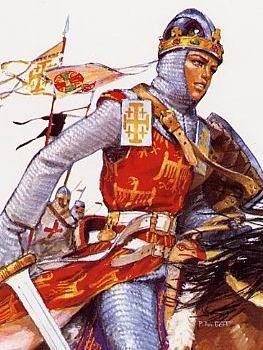 Baudouin IV sur le champ de bataille Croisade