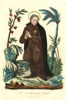 Image pieuse de Saint Jean-Francois Regis
