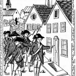 Histoire : soldats révolutionnaires arrêtant un prêtre