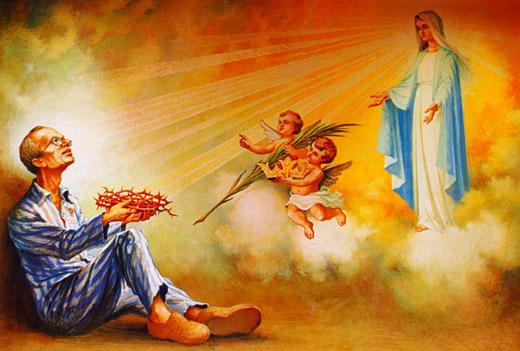 L'Immaculée conception vient chercher son fidèle disciple, le père Maximilien Kolbe