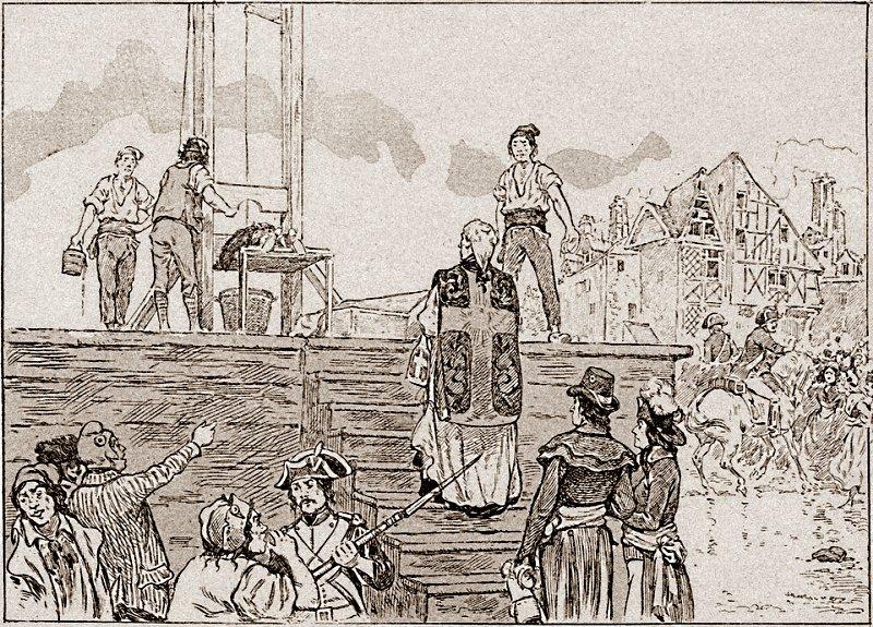 Pour les jeunes : Prêtre guillotiné à la Révolution française