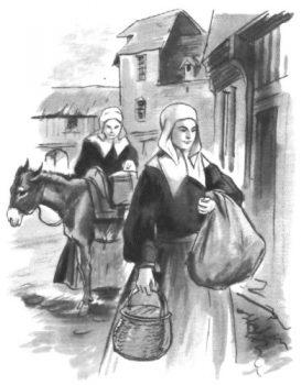 Les soeurs de la Charité de Saint Vincent de Paul s'occupent des pauvres