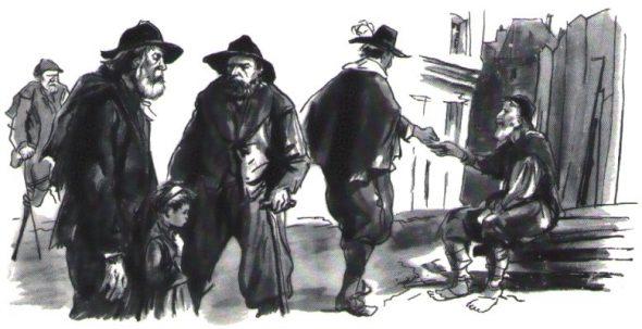 Trafic d'enfants par les mendiants au temps de Saint Vincent de Paul