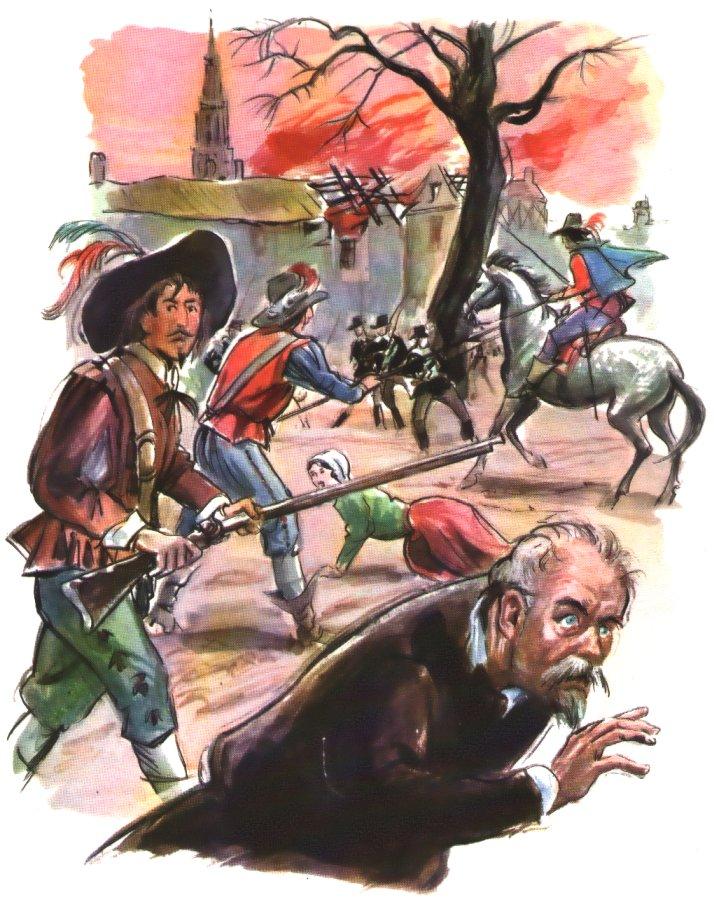 mercenaires dévastant les campagnes au temps de Vincent de Paul