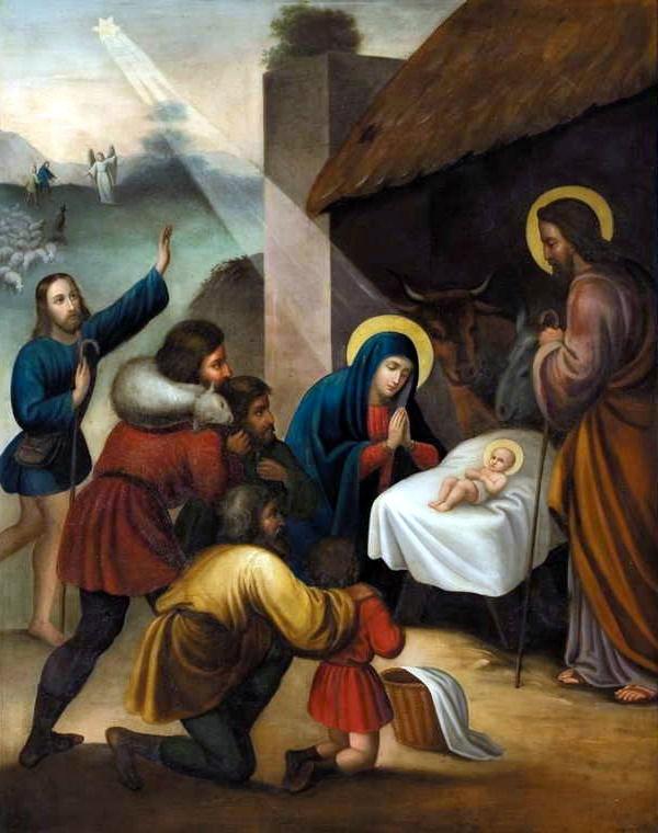 Récit de Noël pour les enfants - Tableau de la nativité