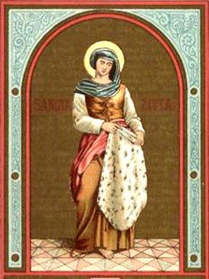 Sainte Zita et la charité aux pauvres