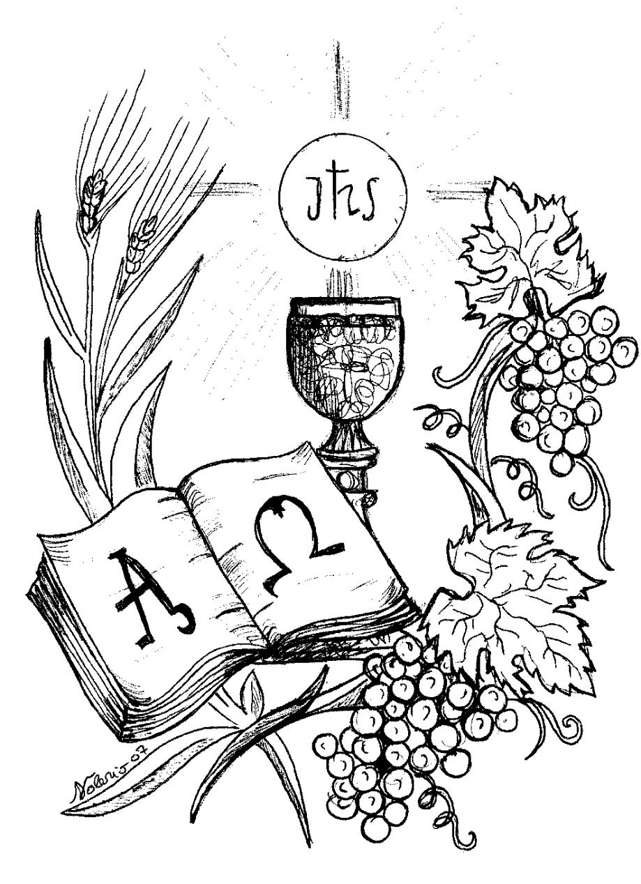 Coloriage première communion