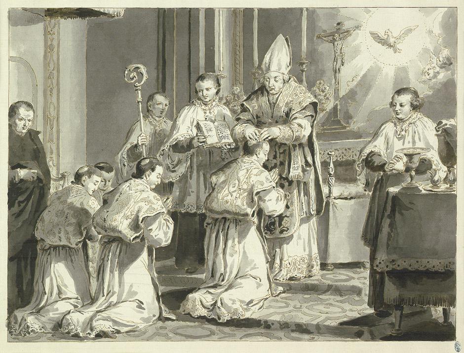 La vocation d'un jeune garçon - Pietro Antonio - Ordination d'un prêtre