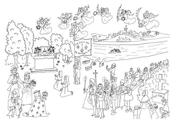 Coloriage Procession - Guerre de Vendée