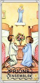 La prière du soir des enfants