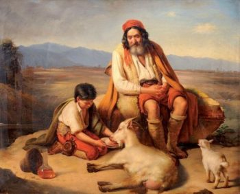 Noel - Vieux berger parlant de la venue du messie à son fils
