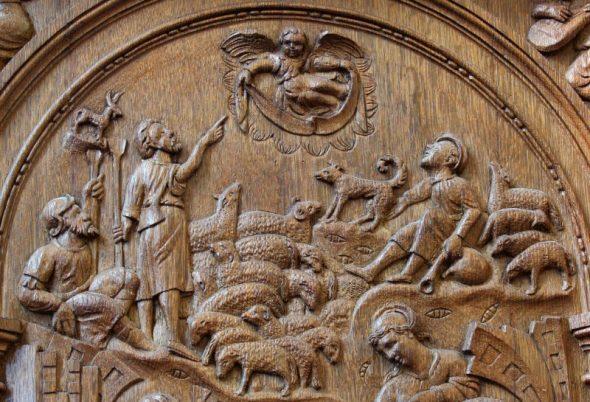 Les anges annoncent la naissance de Jésus aux bergers