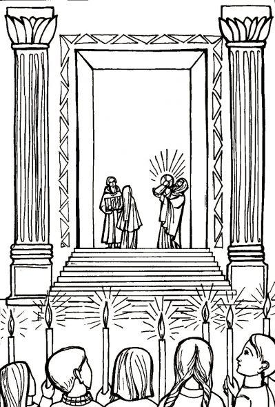 4e Mystère Joyeux : La Présentation de l'Enfant-Jésus au Temple