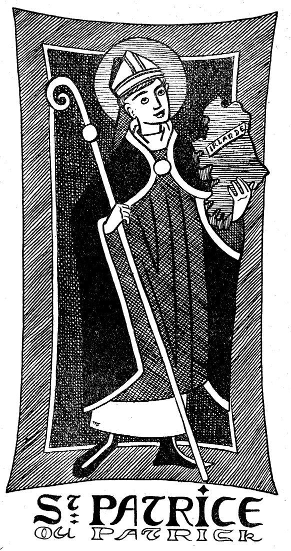 Colorige pour le caté et l'éveil à la foi - Saint Patrick, patron de l'Irlande