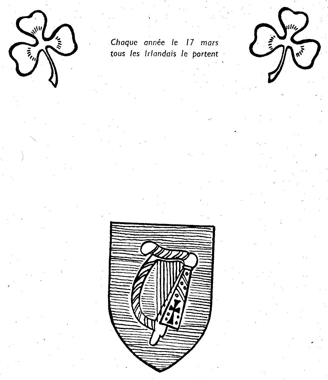 17 mars, Saint Patrick et le trèfle emblème de l'Irlande