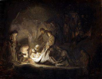 Mise au tombeau Rembrandt - Récit de la Résurrection pour les petits