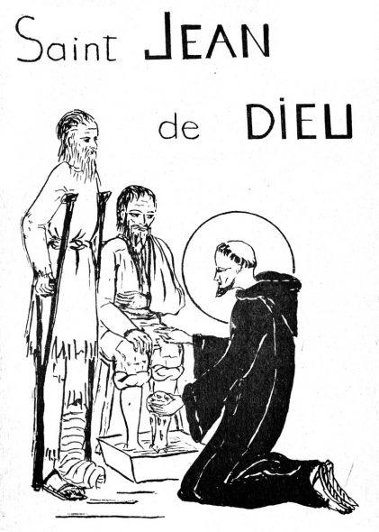 Pour les enfants - Saint Jean de Dieu à colorier
