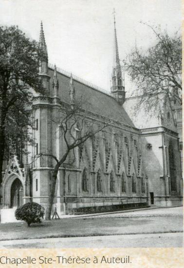 Chapelle Sainte Thérèse des Orphelins d'Auteueil construite par le Père Brottier