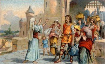 Saint Geneviève retient les parisiens qui veulent fuir devant Attila
