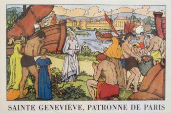 Sainte Geneviève patronne de Paris ravitaille la ville