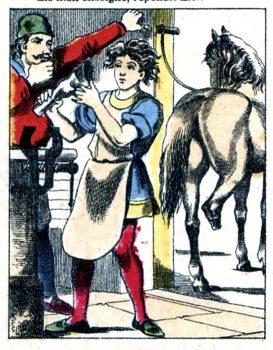 Saint Éloi - Jésus ferre le cheval de Saint Martin