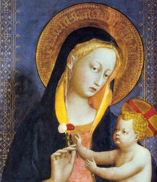 La Vierge à l'Enfant et les roses - Fra Angelico - Fiesole - Madone à l'Emeraude