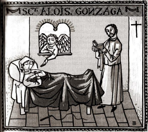 Louis de Gonzague malade Legende Doree de mes filleuls