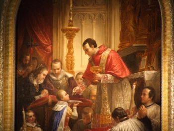 Première communion de Louis de Gonzague enfant par Charles Borromée