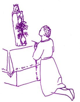 St Joseph de Cupertino disant son chapelet