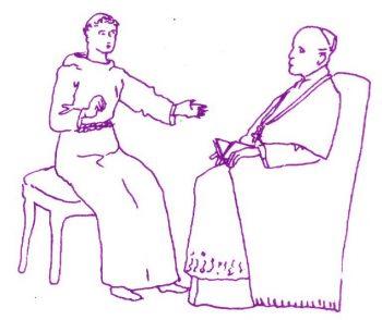 St Joseph de Cupertino passe son examen en vue de devenir prêtre