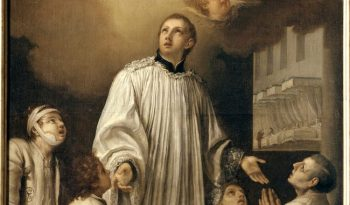 Louis de Gonzague soignant la peste à Naples