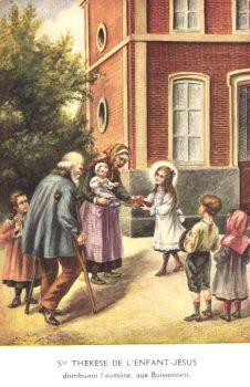Sainte Thérèse et l'aumône aux pauvres