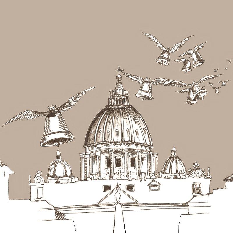 Conte des cloches de Pâques - Cloches arrivant à Rome